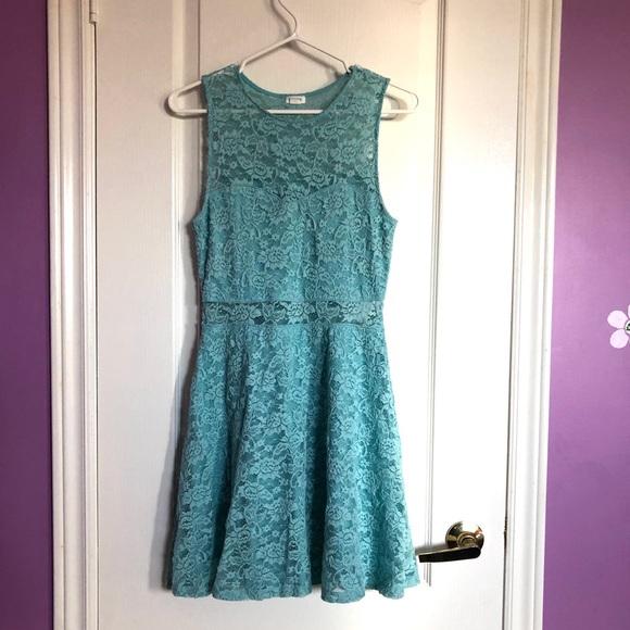 GARAGE blue lace summer dress